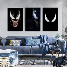 Poster Marvel Movies Funny Venom Posters and Prints on Canvas Oil Painting for Living Room Decoration Wall Art Pictures No Frame(China)