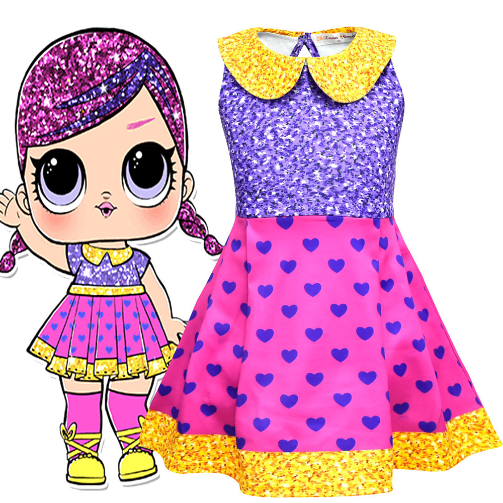 Surprise Cosplay Costume Girl's Doll Princess Dress Party Halloween Christmas Costume Children's Fancy Dress