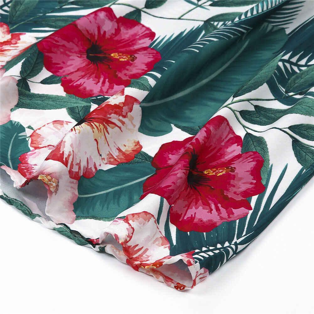 Kadın moda uzun nedime Boho çiçekli elbiseler moda zarif bayanlar derin v yaka yaz tatil balo Sundress