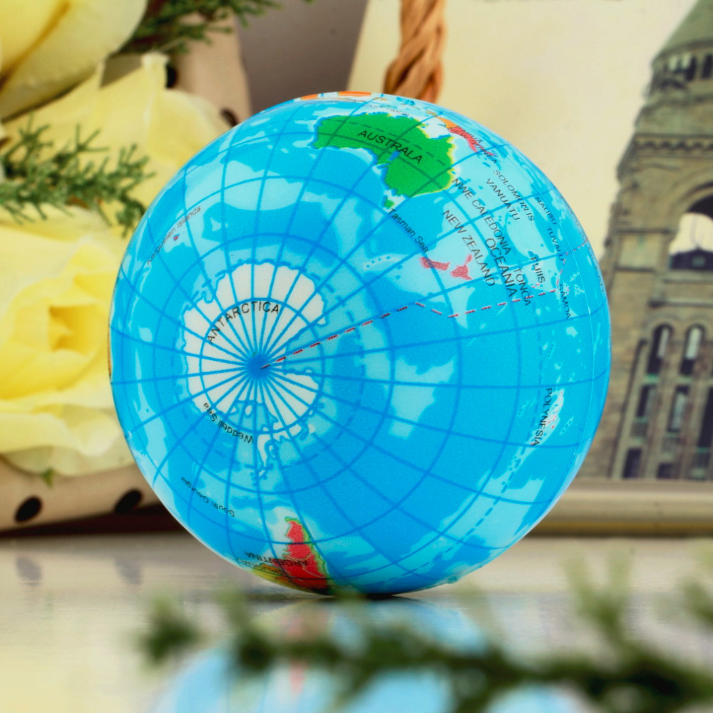 Hot  3pcs World Map Foam Earth Globe Stress Relief Bouncy Ball Atlas     3pcs World Map Foam Earth Globe Stress Relief Bouncy Ball Atlas Geography  Toy TH092 New Sale in Toy Balls from Toys   Hobbies on Aliexpress com    Alibaba