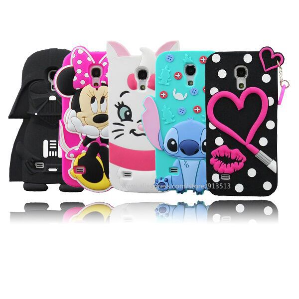 707cb80f0d56 US $2.88 |For Samsung Galaxy S4 mini Case 3D Minnie Sulley Tiger Stitch  Marie Cat Darth Vader Soft Phone Cases Cover For Samsung S4 mini-in ...