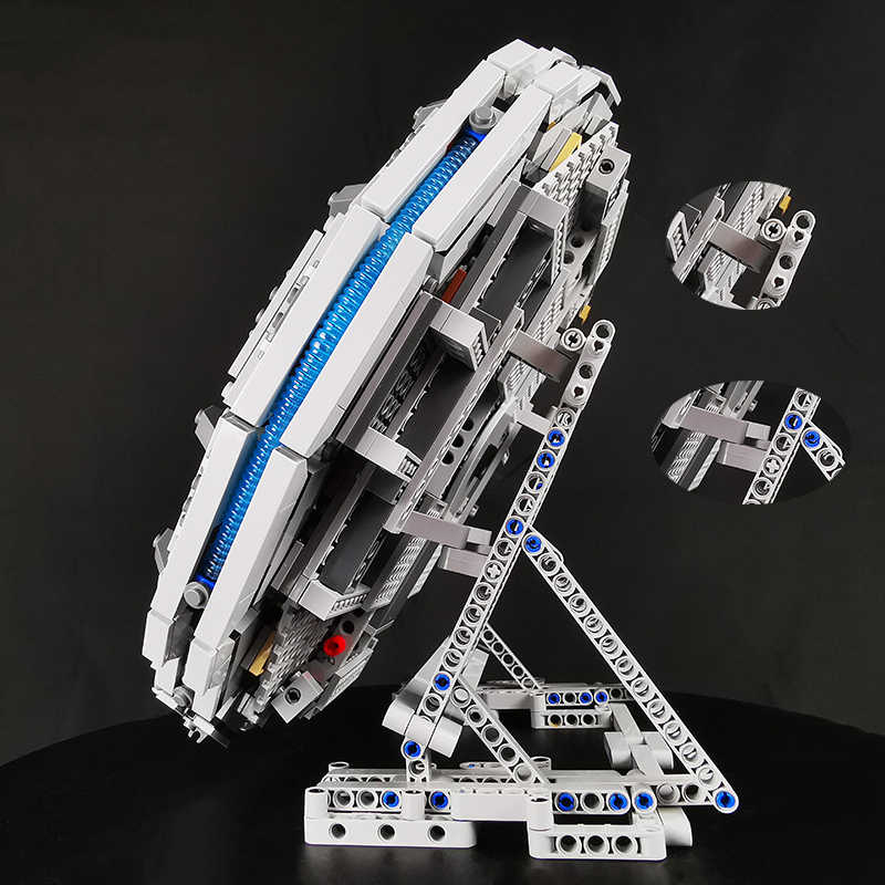 Moc The Display Stand For Lego Star Wars Millennium Falcon 75105 Vertical Compatible For 05007 Ultimate Collectors Model Toys