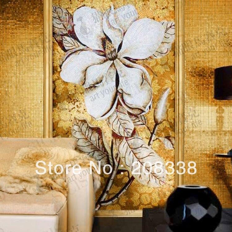 Fleur verre mosaïque tuile Art moderne Mural