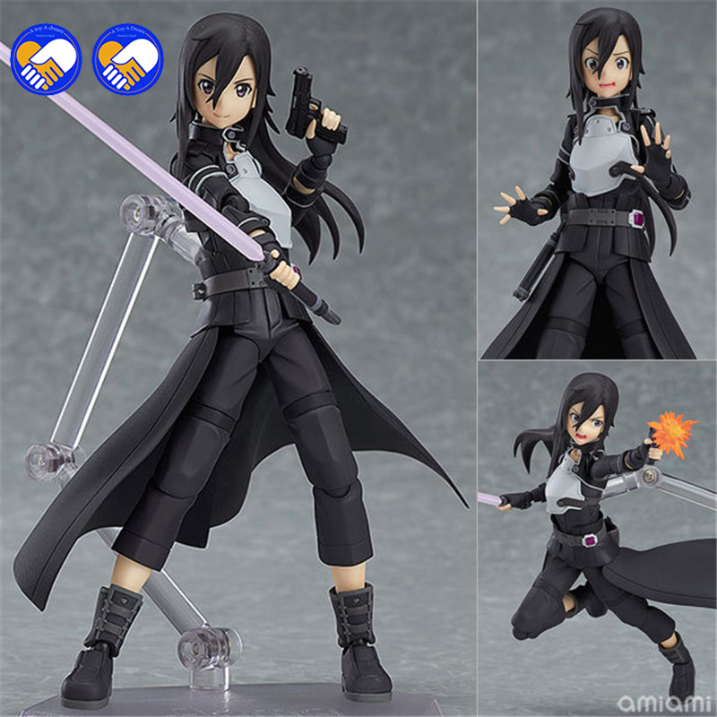 A toy A dream 15cm New hot sale anime figure toy Figma 248 Sword Art Online ALO kirito Kirigaya Kazuto 15CM gift for children