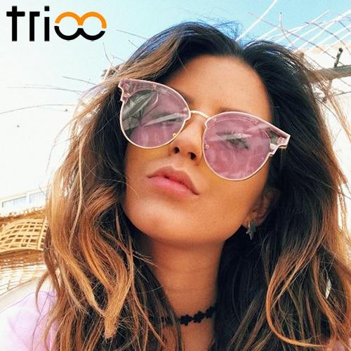 362e1d32e0 TRIOO Fashion Jelly Color Women Sunglasses Box Brand Designer Sweet Oculos  Clear Green Ladies Sun Glasses Mirror Shades Eyewear-in Sunglasses from  Apparel ...