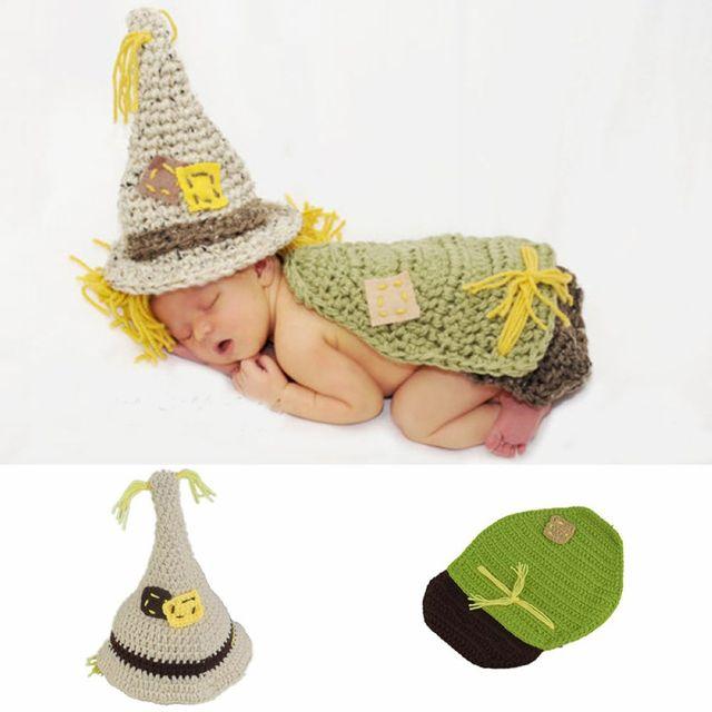 Lindo espantapájaros bebé fotografía prop crochet punto recién ...