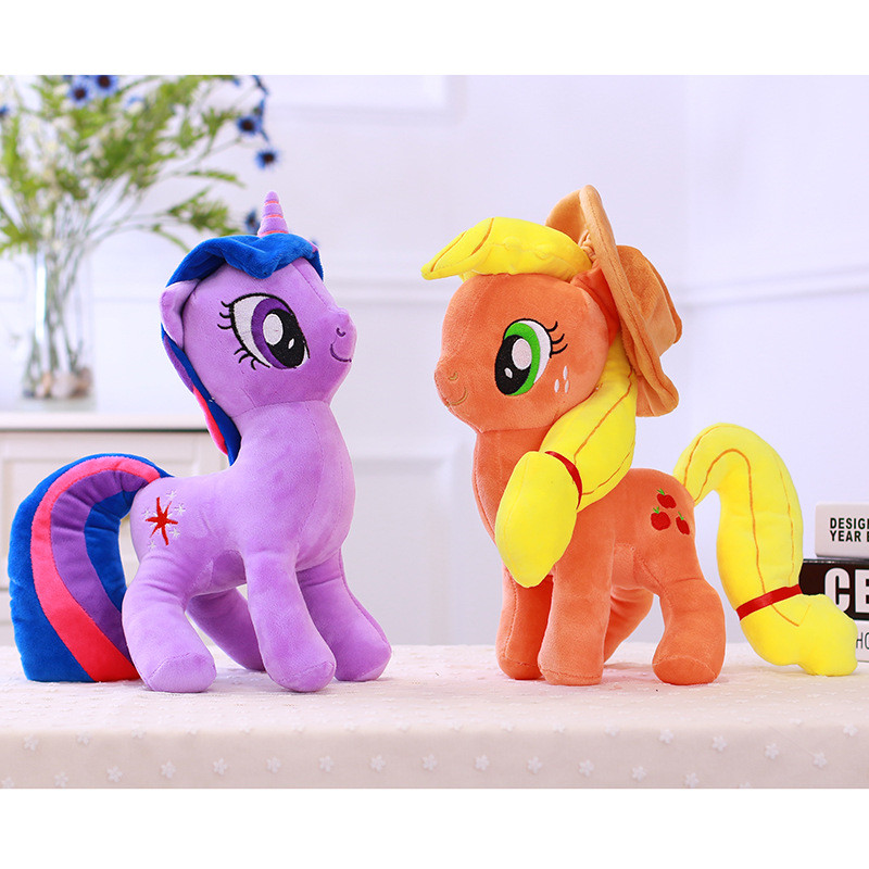 40 cm Jouets pour Enfants Anime Poney En Peluche Jouet Arc-En-Licorne En Peluche Kawaii Licorne Amitié Est Magique Unicornio Doux En Peluche jouets