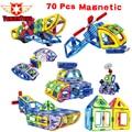Nuevo 2017 70 unids/set magnética diseñador de modelos de construcción de juguete bloques de construcción de plástico diy ladrillos niños juguetes educativos de aprendizaje