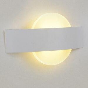 Image 2 - Feimefeiyou Lámpara LED de pared, AC85 265V, luces modernas simples para dormitorio, comedor interior del pasillo de Iluminación, Material de aluminio