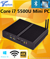 [5Gen Broadwell CPU] win10 mini pc barebone i7 intel nuc fanless computador core i7 5500u gráficos hd 6000 4 k hd htpc