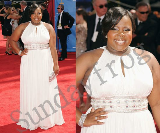 Amber Riley 2010 Emmy Awards the 62nd Red Carpet Celebrity Dress Sleeveless  Chiffon Beaded Plus Size Evening Dresses Formal Gown-in Evening Dresses  from ... 4a8220033271