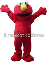 Sesame Street Elmo Mascot Costume Adult Size Blue Cookie Monster Mascot Costume Free Shipping