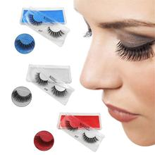 New 1Pair/Pack False Eyelashes Mink Hair 3D Stereoscopic Multi-Layer Natural