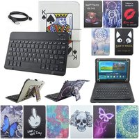 New Italy Language Bluetooth Cartoon Universal Leather Case Cover With USB Keyboard For 10 Inch Table