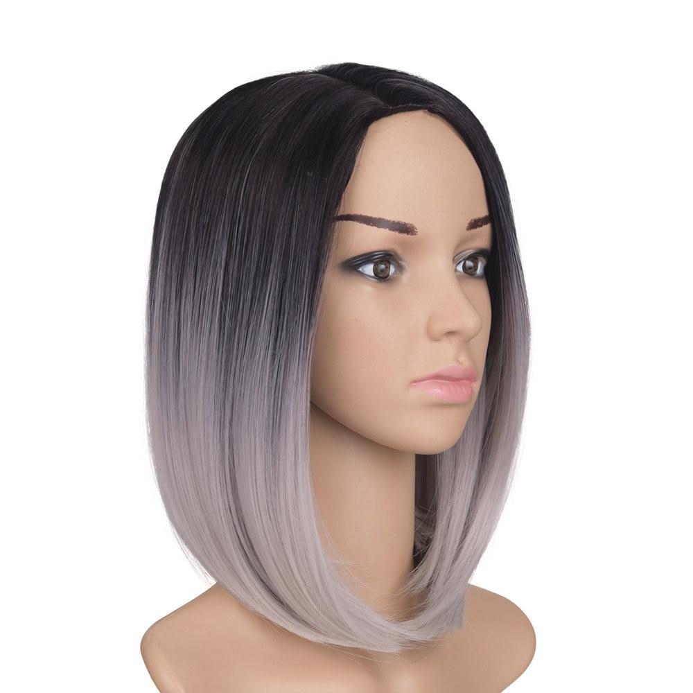 Feilimei Afroamerikansk Bob Wig 10Inch 160g Syntetisk Kanekalon Kort - Syntetiskt hår - Foto 3