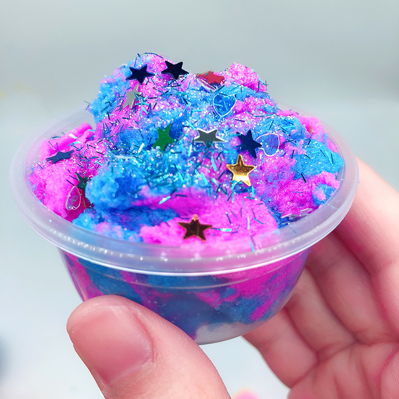 Modeling Clay Colorful Star Rainbow Cloud Slime Clay Polymer Anti Stress Toys For Children Cotton Mud Magic Crystal Sand Fluffy Slime Clay Toys & Hobbies
