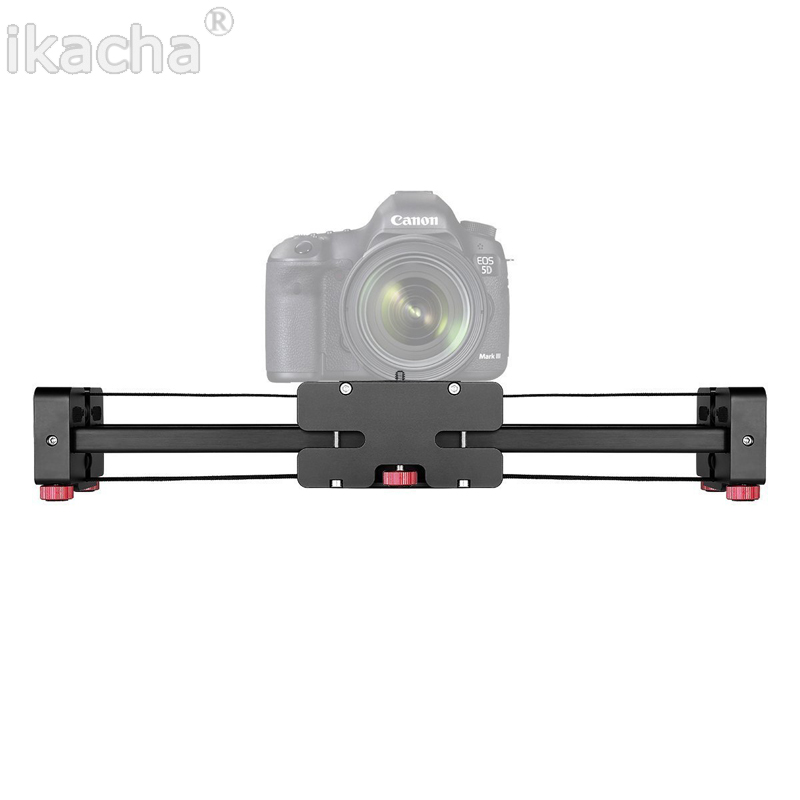 Camera Video Slider Dolly 50cm Track Rail Stabilizer 100cm Sliding Distance For Canon Nikon Sony Photo Studio DHL Free Ship new 4 wheels mobile rolling sliding dolly stabilizer skater slider motorized push cart tractor for gopro 5 4 3 3 2 1 camera