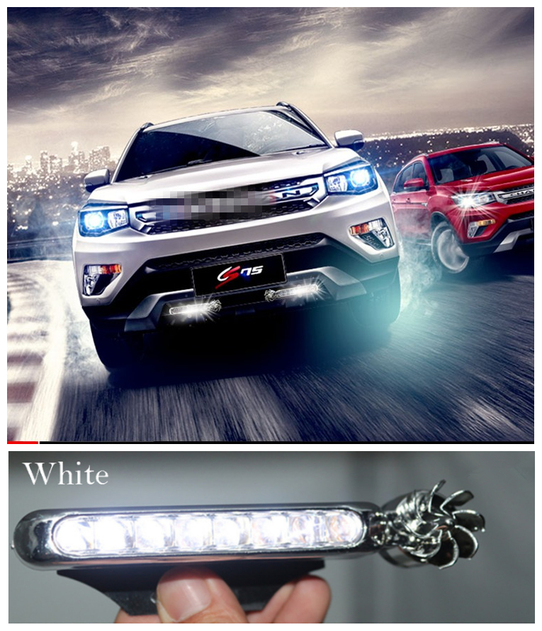 2PCS LEDs Wind Powered Vehicle Lights With Fan Rotation For Cadillac CT6 XT5 ATS-L XTS SRX CTS STS ATS ESCALADE Accessories