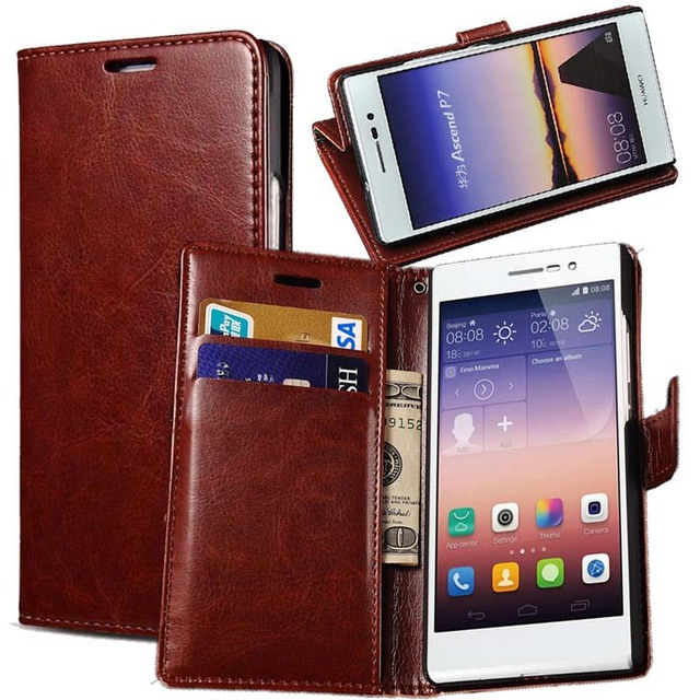 huawei ascend p7. p7 vintage pu leather case for huawei ascend phone bag cover wallet style stand card o