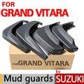 De alta calidad accesorios de barro guardabarros para suzuki grand vitara guardias 2006-2014 2007 2008 2009 2010 2011 2012 2013 Coche Styling