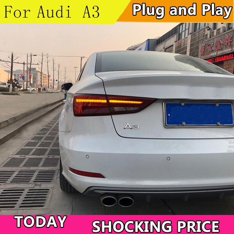 Car Styling Taillights For Audi A3 2014 2019 LED Dynamic turn signal TailLight Rear Light LED