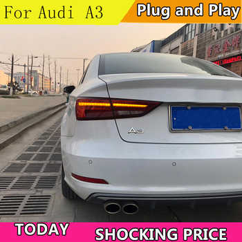 Car Styling Taillights For Audi A3 2014-2019 LED Dynamic turn signal TailLight Rear Light LED Brake+Park+Moving Turn Signal Lamp - DISCOUNT ITEM  20% OFF All Category