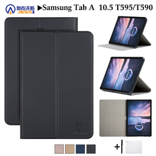 Leather Cover Case For Samsung galaxy Tab A 10 5 2018 SM-T590 T595 T597 Tablet protective skin for Samsung galaxy Tab A 10 5 #8243 cheap NoEnName_Null Protective Shell Skin 10 5 for Samsung Galaxy Tab A 10 5 SM-T595 T590 T597 Solid Fashion Drop resistance