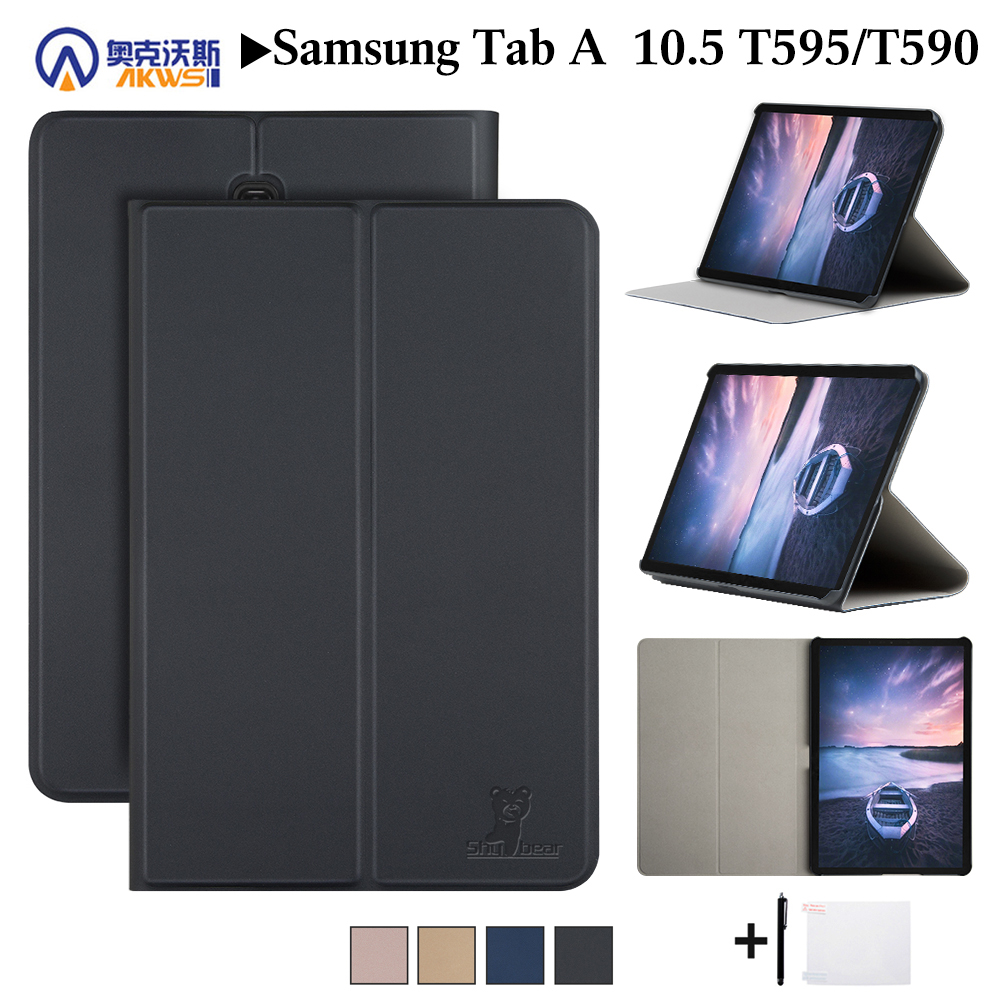 Leather Cover Case For Samsung Galaxy Tab A 10.5 2018 SM-T590 T595 T597 Tablet Protective Skin For Samsung Galaxy Tab A 10.5