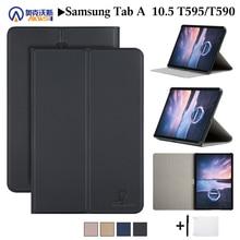 Étui de protection en cuir pour Samsung Galaxy Tab a 10.5, 2018, T595, T597, support de protection, pour Samsung Galaxy Tab a SM T590