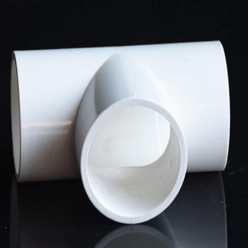White PVC Pipe Fittings 3 Tri Clamp 3 Water Fittings Inner Diameter 20 25 32 40 50 63 75 MM Three Way Pipe Fitting Tee 5PCS/LOT