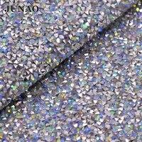 24 40cm Crystal AB Resin Rhinestones Trim Hotfix Strass Crystal Applique Diamond Mesh Wedding Dress Decorative