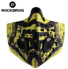 ROCKBROS  Cycling Mask Breathable Sport Half Face Mask Activated Carbon Filter Anti-Dust Road Bicycle Running Mask Shield недорого