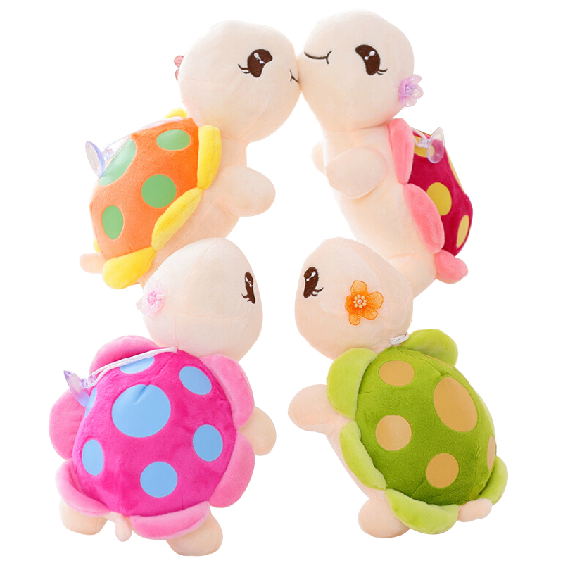 1pc 23cm Cute Tortoise Plush Toy Staffed Cartoon Colorful Turtle Plush Doll Activity Doll Wedding Doll
