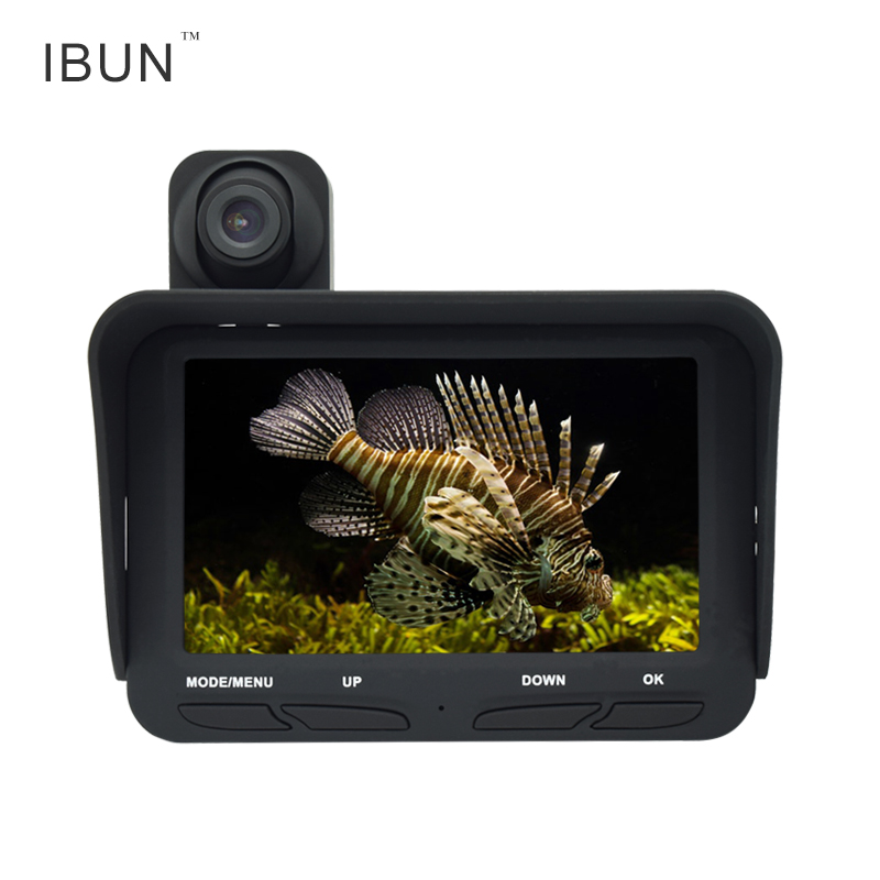 IBUN Fish Finder Camera 720P 2MP Underwater Video Fishing Camera System Kit 4.3 Inch LCD Monitor 6h Working Time 2 4g wireless fish finder underwater fishing camera video free soft app 50m underwater breeding monitoring for fish searching