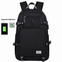 2019 New Fashion Travel Laptop Backpack with USB Charging Port Oxford Men Double Shoulder Schoolbag Fits for 15.6 inch Notebook factory direct sales business backpack double shoulder pack usb charging schoolbag laptop package one issue wholesale