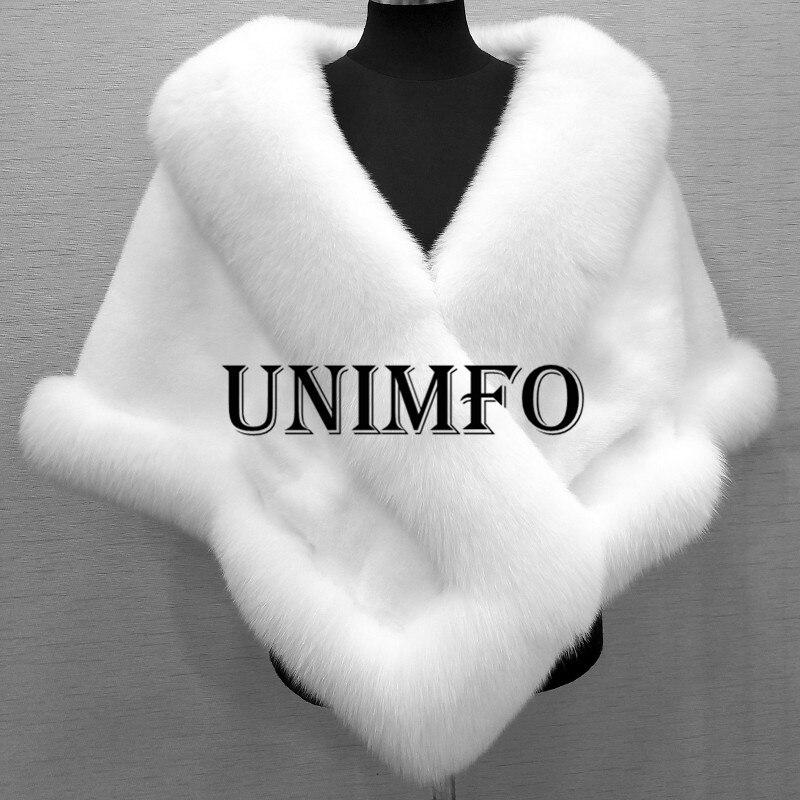 2019 Winter Wedding Coat Bridal Faux Fur Wraps Warm  Shawls Outerwear White Black Gary Shrug Women Jacket Prom Size 165*55 Cm