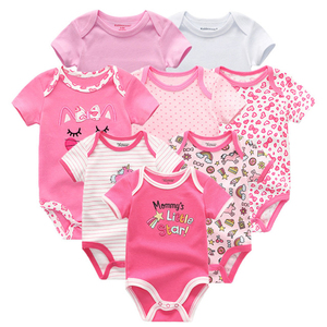 Image 4 - 2020 8PCS/lot Clothing Sets Cotton Newborn Unicorn Baby Girl Clothes Bodysuit Baby Clothes Ropa bebe Baby Boy Clothes