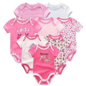 Image 4 - Ensemble en coton pour nouveau né, 8 pièces/lot, vêtements licorne pour bébés filles, vêtements en forme de licorne, tendance 2020