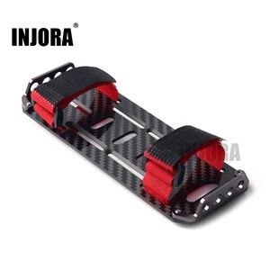 Монтажная пластина для аккумулятора из углеродного волокна с зажимом для радиоуправляемого автомобиля 1/10 RC Crawler Car Axial SCX10 90046
