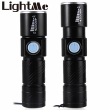 Hot Selling USD Charging 3 Mode USB Flashlight Rechargeable Waterproof Lithium Battery LED Torch For Camping Or Seeking Survival