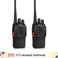2 pcs baofeng bf 888s walkie talkie portable radio 888s walkie talkie 888 comunicador purse 10 km hunting intercom walk talk