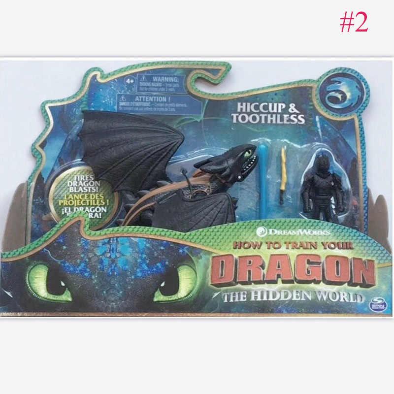 Polegada 5-23 9 centímetros Como Treinar O Seu Dragão Desdentado Fúria Desdentado Brinquedos figura de Ação de Luz Para As Crianças presentes de Aniversário