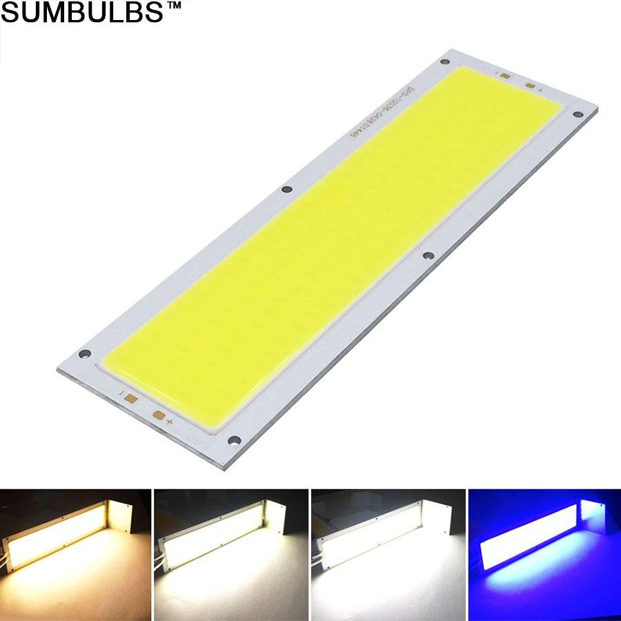 Sumbulbs 120x36MM 1300LM ultra jasne LED źródło światła 12V 12W lampa cob dla światła samochodowe DIY wodoodporna LED moduł chip pasek W kształcie żarówki