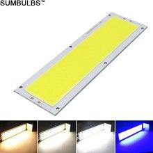 Sumbulbs fonte de luz ultra brilhante, lâmpada cob para 12v 120x36mm 1300lm 12w luzes à prova d água do módulo do chip led da faixa