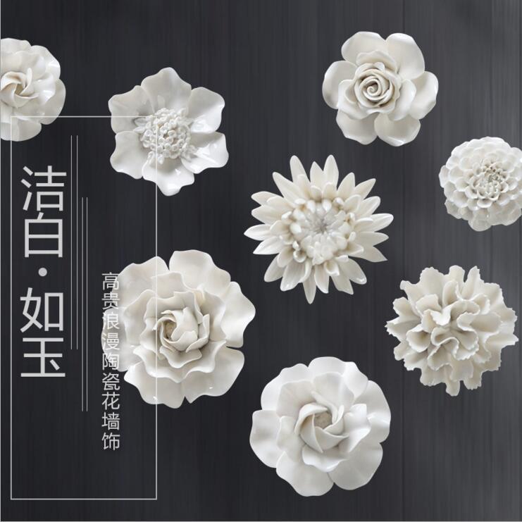 Ceramic Wall Flower Decor: Diy 2017 Ceramic Flower Wall Hanging Adornment Household