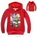 High quality Stylish Hooded Long Sleeve t shirt cartoon Pattern Print Boy's hoodies Sweatshirt top fashionable MS1622