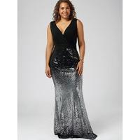 CharMma 2017 Plus Size XL 5XL Summer Dress Women Fashion Maxi Fishtail Party Sundress Brief V