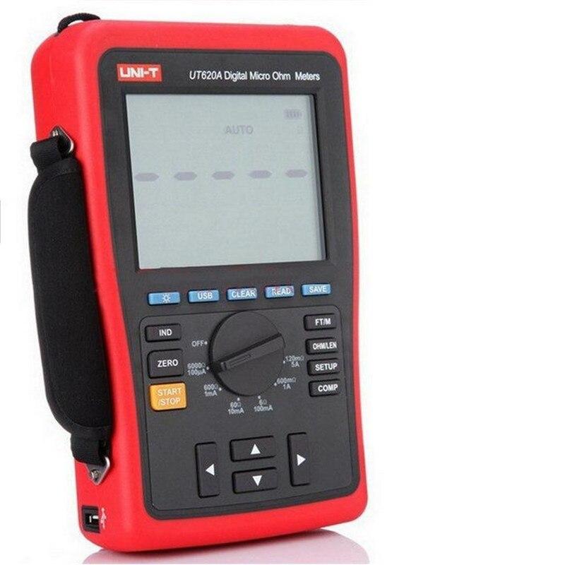 Haute précision 0.25% Kelvin quatre fils faible résistance et longueur de fil testeur Micro Ohm mètre USB Lithium batterie UNI-T UT620A