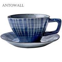 ANTOWALL японский стиль hengfeng ручная роспись кофейная чашка и блюдце набор домашняя пара завтрак кружка послеобеденный чай чашка