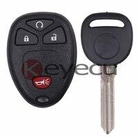 Keyecu 3 ADET/GRUP Anahtarsız giriş Uzaktan Kumanda Verici 15913421 & G M # OUC60270 ID46 için Transponder Anahtar, OUC60220